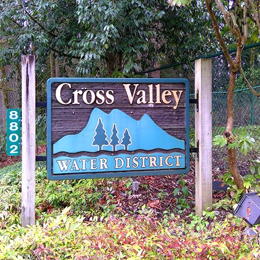 Cross Valley water district sign